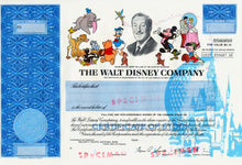 Load image into Gallery viewer, Walt Disney Company Specimen Stock Certificate - 1986 - Wall Street Treasures