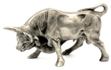 Load image into Gallery viewer, Vintage 1985 Hudson Fine Pewter Bull Statue - Wall Street Treasures