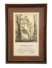Load image into Gallery viewer, Merrill Lynch, Pierce, Fenner, & Smith, Inc. Framed NYSE Stock Exchange Certificate - Wall Street Treasures