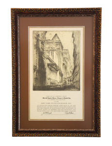 Merrill Lynch, Pierce, Fenner, & Smith, Inc. Framed NYSE Stock Exchange Certificate - Wall Street Treasures