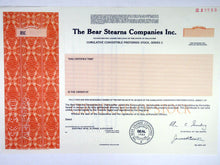 Load image into Gallery viewer, Bear Stearns Companies Inc. Specimen Stock Certificate - 1985 - Wall Street Treasures