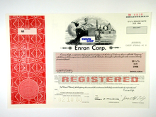 Load image into Gallery viewer, Enron Corp. Specimen Registered Bond Certificate - 1988 - Wall Street Treasures
