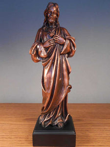 "11"" Jesus Statue - Bronze Finished Sculpture - Wall Street Treasures"