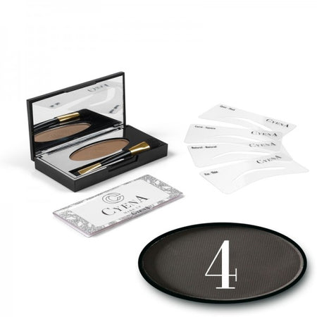 KIT SOURCIL - CYENA MAKE UP - Teinte 4 - Charbon