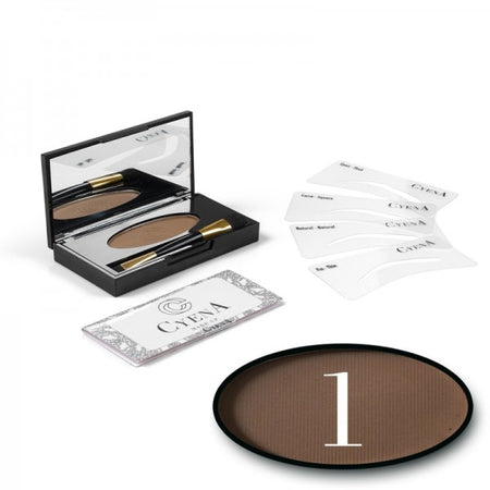 KIT SOURCIL - CYENA MAKE UP - Teinte 1 - Châtain
