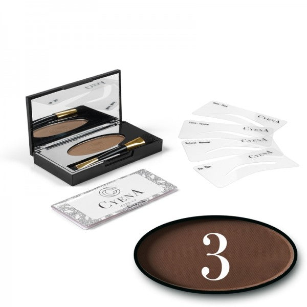 KIT SOURCIL - CYENA MAKE UP - Teinte 3 - Marron
