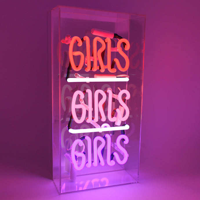 Girls Girls Girls Neon Sign