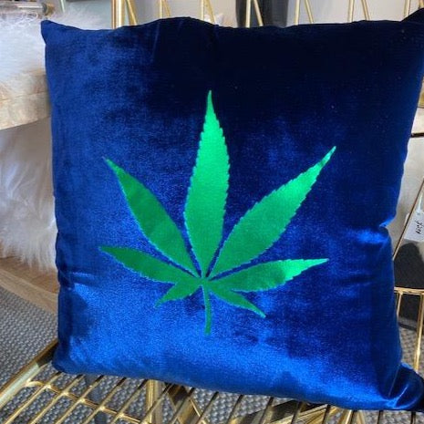 Cannabis Leaf Pillow