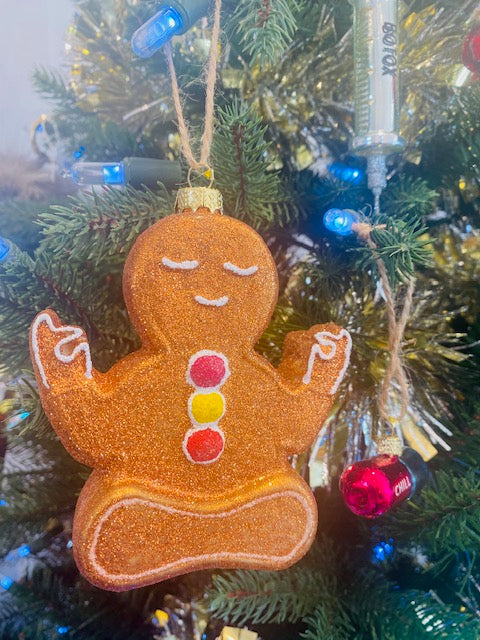 Zen Ginger Bread Man Ornament