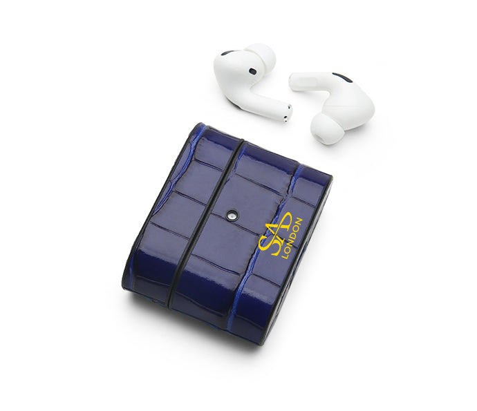 NAVY BLUE CROC AIRPODS PRO CASE