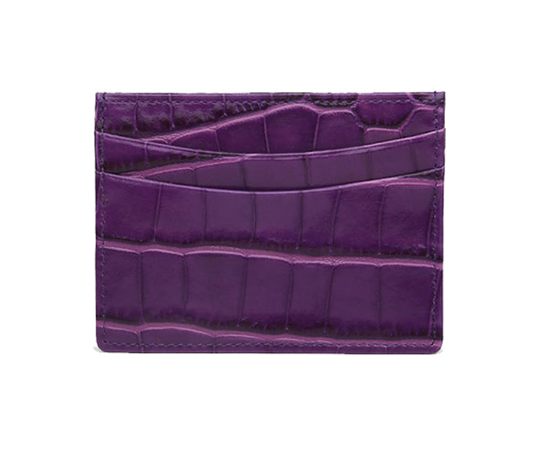 PURPLE CROC CARDHOLDER