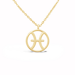 "Zodiac Sign - Necklace ""Pisces"""