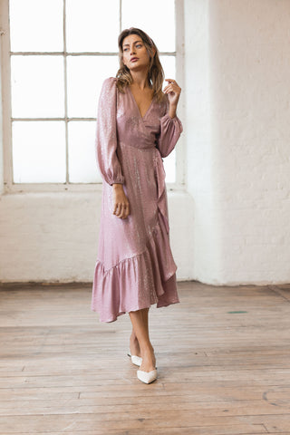 Rose Quartz Wrap Dress