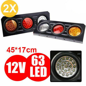 1 pair of Truck Trailer LED Tail Light Stop Indicator