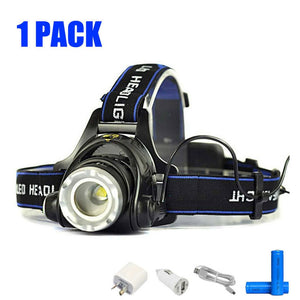 Zoomable LED Rechargeable Headlight