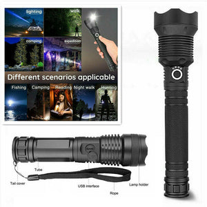 XHP70.2 Tactical 3 Mode Zoom Flashlight LED Torch