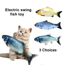 Load image into Gallery viewer, Rechargeable Electric Dancing Fish Cat Toy