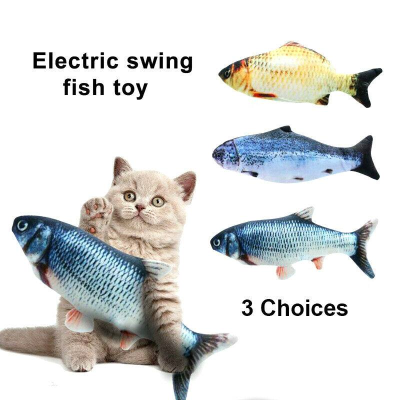 Rechargeable Electric Dancing Fish Cat Toy