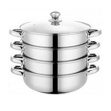 Load image into Gallery viewer, 4 /5 Tier Stainless Steel Steamer Meat Vegetable Cooking Steam Pot Kitchen Tool