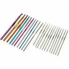 Load image into Gallery viewer, 124PCS NEW Aluminum Crochet Hooks Kit Weave Knitting Needles Sewing Tools Case