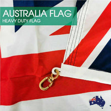 Load image into Gallery viewer, 1800x900 Australian Flag Polyester Metal Woven Brass Sister Clips