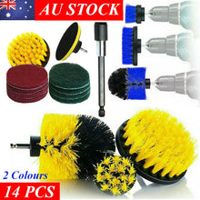 Load image into Gallery viewer, 14PC Drill Brush Tub Clean Electric Grout Power Scrubber Cleaning Set Tool Kit