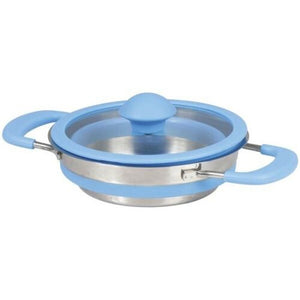 1x Collapsible Pop-up 3L Cook Pot with Lid Stainless Steel Base Camping