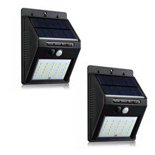 Load image into Gallery viewer, 2 units 25LED Solar Power PIR Motion Sensor Lights