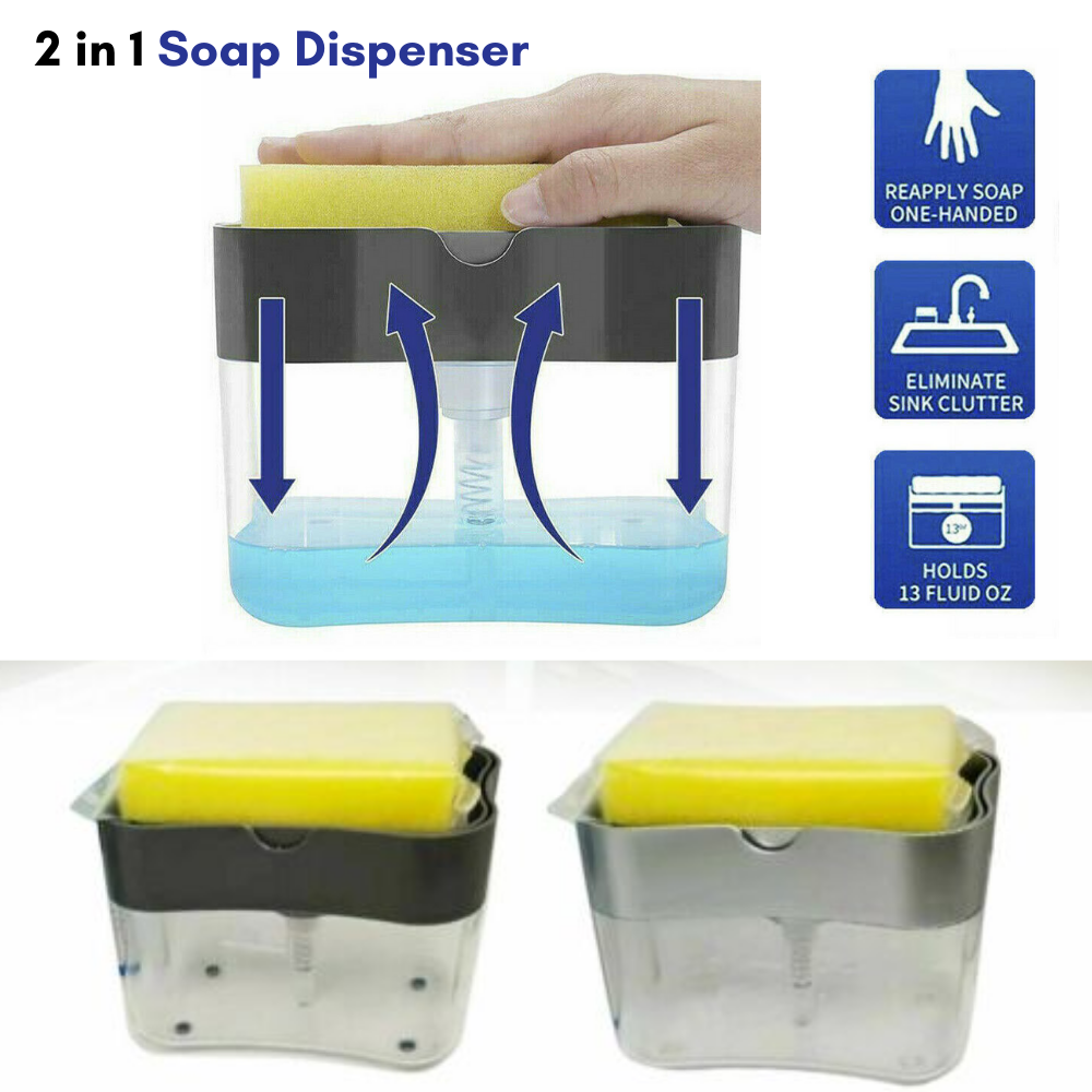 Soap Dispenser Pump 2 in 1