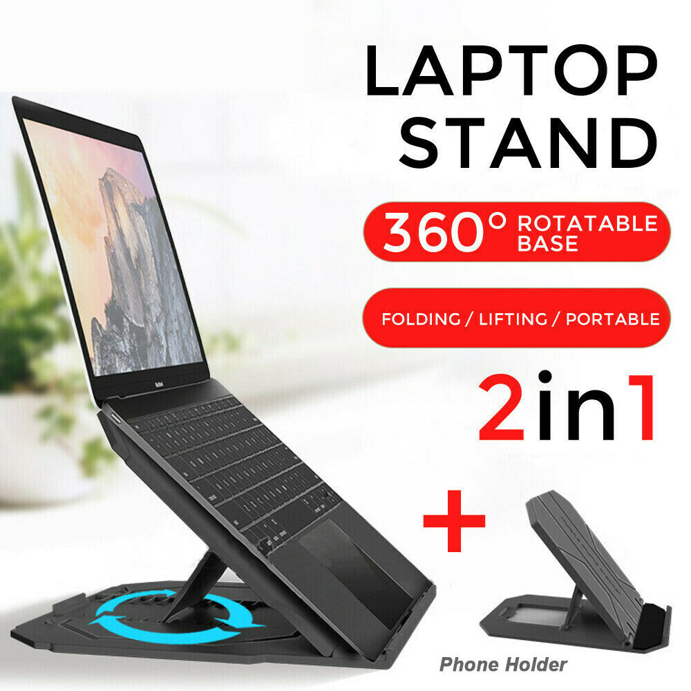 Ergonomic  iPad Holder Folding Adjustable Notebook Cooling Laptop Stand