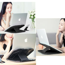 Load image into Gallery viewer, Ergonomic  iPad Holder Folding Adjustable Notebook Cooling Laptop Stand