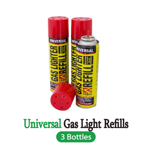 3x Butane Universal Gas Refill Jet Refined Bottle Blowtorch Lighter BBQ Fuel Can