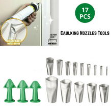 Load image into Gallery viewer, 17PCS Caulking Tool Scraper Nozzles Spatulas Filler Spreader Sealant