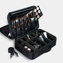 Load image into Gallery viewer, Portable Makeup Bag Cosmetic Make up Case Storage Box Travel Black Rose Red