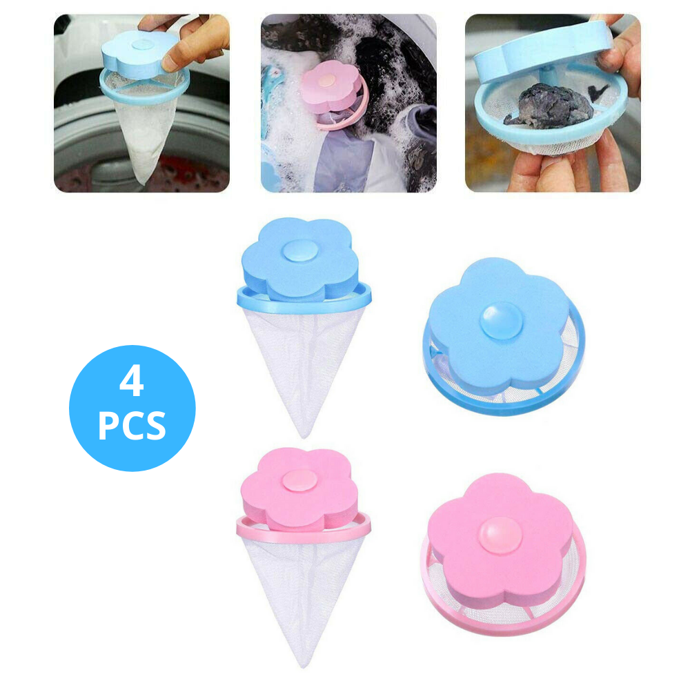 4x Washing Machine Filter Bag Laundry Tool