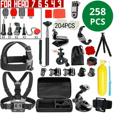 GoPro Hero 258pcs Accessories Pack