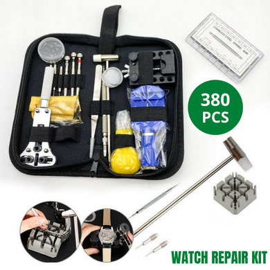 380PCS Watchmaker Watch Repair Tool Kit Set