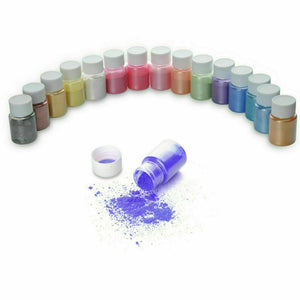 8pcs Pearl Pigment Powder for Epoxy Resin Floors Metallic Dye Ultra Mixed Color