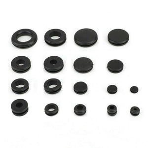 125 Rubber Grommet Firewall Hole Plug Set Electrical Wire Gasket Assortment Kit