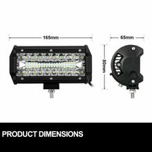 Load image into Gallery viewer, 1 Pair 7inch CREE LED Work Light Bar Spot Flood Lights Off Road 4WD