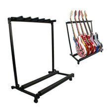 Load image into Gallery viewer, 5 GUITAR STAND - MULTIPLE Five INSTRUMENT Display Rack