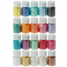 Load image into Gallery viewer, 8pcs Pearl Pigment Powder for Epoxy Resin Floors Metallic Dye Ultra Mixed Color