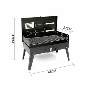 Portable BBQ Grill Outdoor Hibachi Charcoal BBQ Barbecue Tool Set Picnic Camping