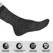 Load image into Gallery viewer, 3Pairs Socks Adults Workwear Bamboo Brushed Lining Crew Cut Black, Grey & Navy
