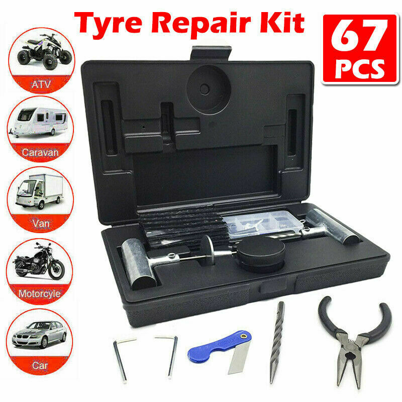 56PCS  Tyre Puncture Repair  Recovery Kit