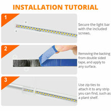Load image into Gallery viewer, 10W 48LED Grow Light Tube Strip Full Spectrum Lamp for Indoor Plants Flower Veg