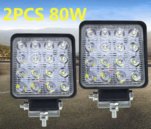 Load image into Gallery viewer, 2x 80W LED Work Light Offroad Flood Square Lamp Truck Boat 4WD