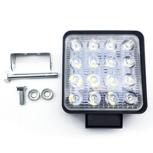 2x 80W LED Work Light Offroad Flood Square Lamp Truck Boat 4WD