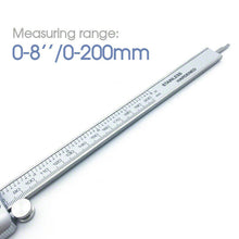 "Load image into Gallery viewer, New Brand 0-200mm (8"") Stainless Steel Digital Vernier Caliper Micrometer Guage"