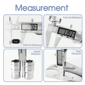 "New Brand 0-200mm (8"") Stainless Steel Digital Vernier Caliper Micrometer Guage"